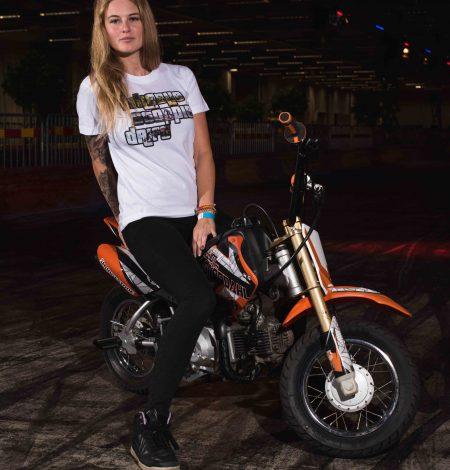 T-shirt WHEELIE STOPPIE DRIFT Lisette Karlsson
