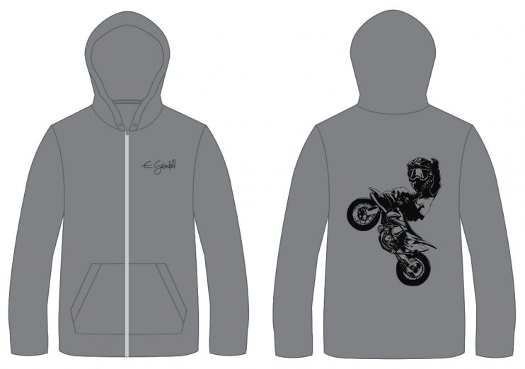 Zip-hood cartoon grey 2018