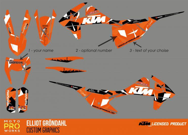 Elliot Gröndahl KTM Custom Graphics 2019